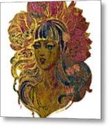 Goddess Lotus Metal Print