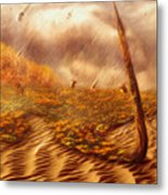 Gods Hand Painting With Life Metal Print