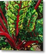 God's Kitchen Series No 7 Swiss Chard Metal Print