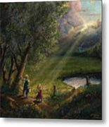 Gods Light Metal Print