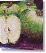 Gods Little Green Apples Metal Print