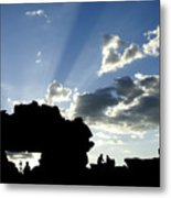 God's Rays At La Fenetre Metal Print