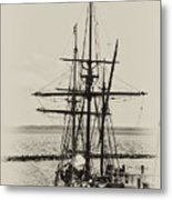 Godspeed At Port In Jamestown Metal Print