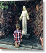 Going Before The Sacred Heart Of Jesus Metal Print