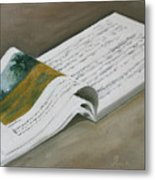 Going By The Book Metal Print