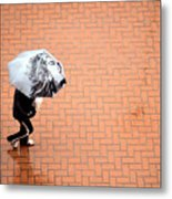 Going East- Umbrellas Series 1 Metal Print