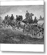 Going Into Battle - Civil War Metal Print