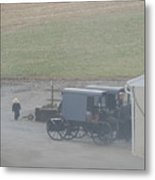 Going Out To The Barn Metal Print