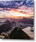 Going Up The Cable Car In Rio De Janeiro Metal Print