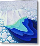 Going With The Floe Metal Print