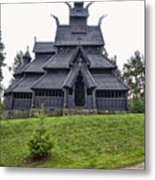 Gol Stave Church Metal Print