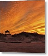 Gold Above Them Thar Dunes Metal Print