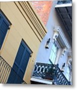 Gold And Gray In New Orleans Metal Print