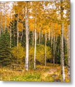 Gold And Green Metal Print