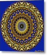 Gold And Sapphires  Metal Print