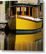 Gold Boat Reflects Metal Print