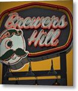 Gold Brewers Hill Metal Print