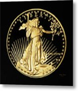 Gold Coin Front Metal Print
