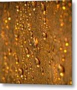 Gold Drops Metal Print
