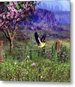 Gold Finch In The Spring Time Metal Print