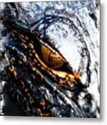 Gold Gator Eye Metal Print