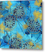 Gold In Bloom Metal Print