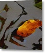 Gold In The Pond Metal Print