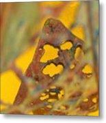 Gold Leaf 3 Metal Print