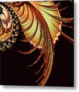 Gold Leaf Abstract Metal Print