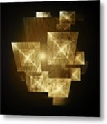 Gold Light And Panels Metal Print