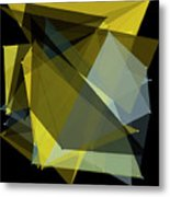 Gold Mine Polygon Pattern Metal Print