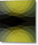 Gold Mine Semi Circle Background Horizontal Metal Print
