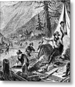 Gold Mining, 1853 Metal Print
