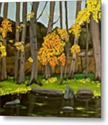 Gold On The River Meadow Park Lyons Co Metal Print
