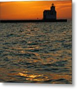 Gold On The Water Metal Print by Bill Pevlor