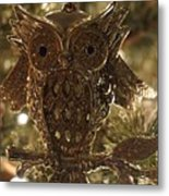 Gold Owl Metal Print