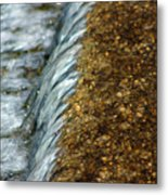 Gold Rush Abstract Metal Print