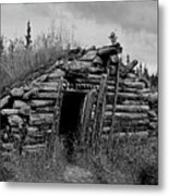 Gold Rush Cabin - Yukon Metal Print