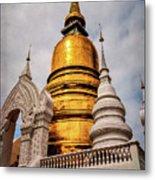 Gold Stupa Metal Print