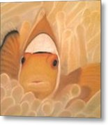 Gold Touch Metal Print
