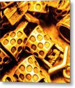 Gold Treasures Metal Print
