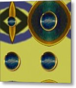 Golden Abstracte Metal Print