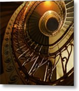 Golden And Brown Spiral Stairs Metal Print
