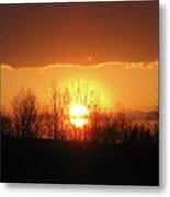 Golden Arch Sunset Metal Print