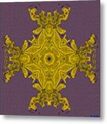 Golden Artifact Metal Print
