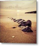 Golden Beach Metal Print
