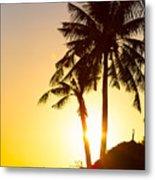 Golden Beach Tropics Metal Print