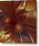 Golden Bronze Swirl Metal Print