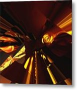 Golden Brown Abstract Metal Print