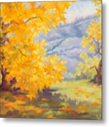 Golden California Sycamores Metal Print